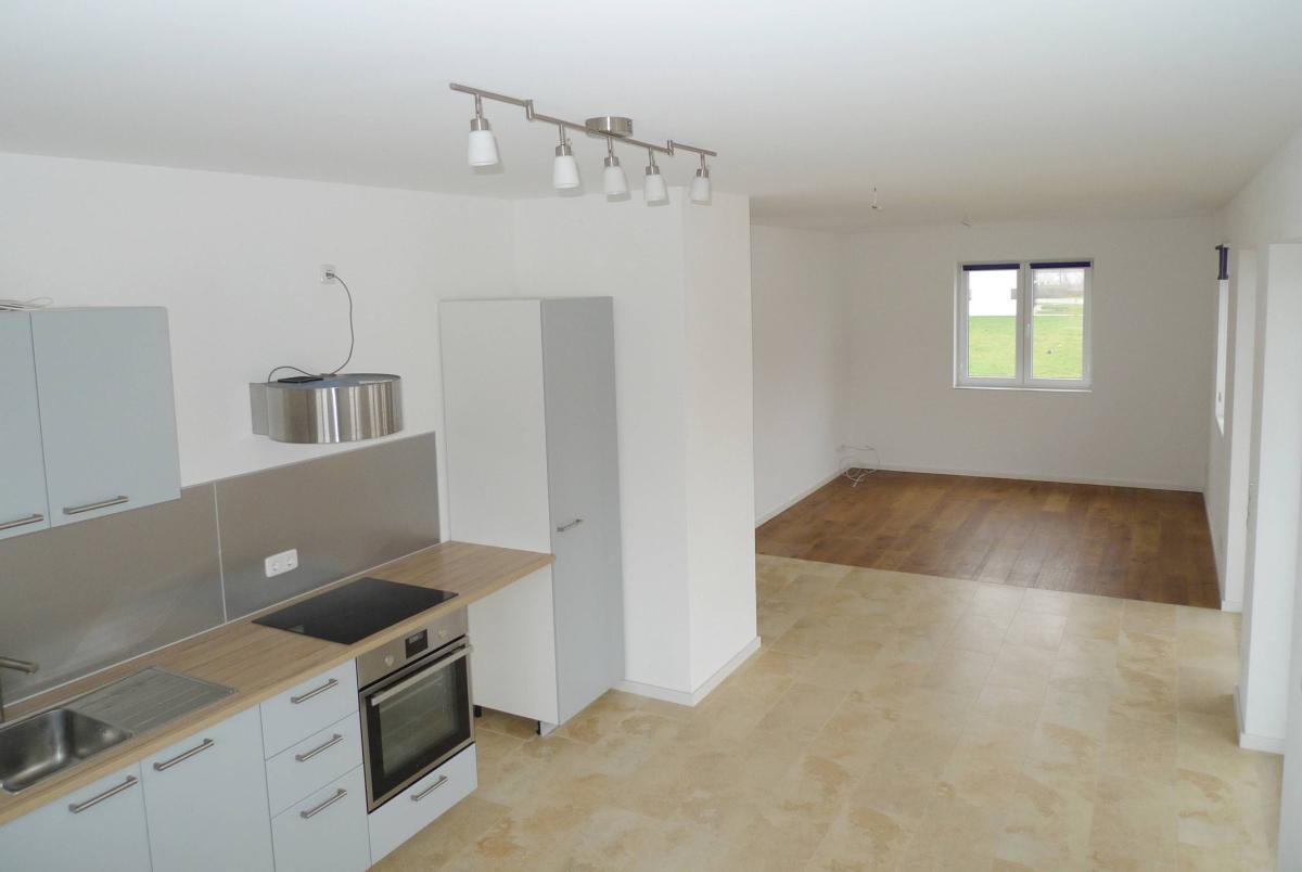 Küche, Wohn- u. Essbereich